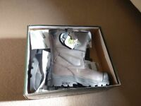 Men's brand new construction site work boots