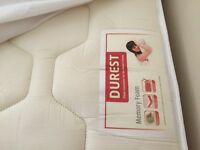 King size divan bed with 2 drawers, memory foam mattress and headboard
