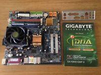 Motherboard Processor Bundle AMD 3700+ 64 bit CPU Gigabyte Geforce SATA nforce mainboard PC computer