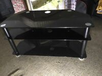 Large contemporary glass TV stand