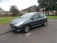 PEUGEOT 307 S HDI 07 PLATE 2007 MOT END SEP 2018