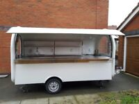 Catering Trailer Burger Van Food Cart 3400x1650x2300 Ready For Collection
