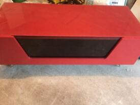 Tv alpherson tv stand cabinet red metal kegs