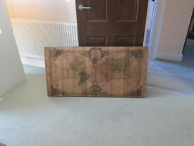 Wooden Picture Map of the World