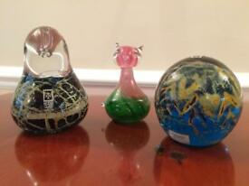 Mdina glass paperweights
