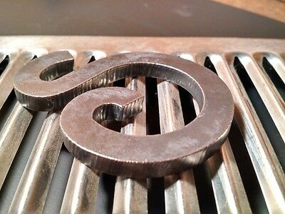 "Steel Letters, Numbers, & Symbols, Many Fonts |3"" x 1/4""