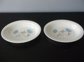 Two Matching Wedgwood Dishes. Ice Rose Pattern. Both Perfect *Plus Free Wedgwood Bowl*