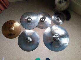 Zildjian ZXT Titanium Cymbal set + ZXT thin Crash!
