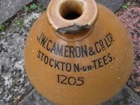 Vintage Stoneware beer vessel 4 gallon