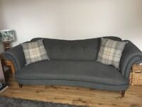Beautiful DFS Moray Large Sofa, Cuddle Chair and Foot Stool