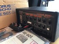 Roland RE-501 Tape Space Echo. Original Footswitches/Manual/Cables/Box. Minty.