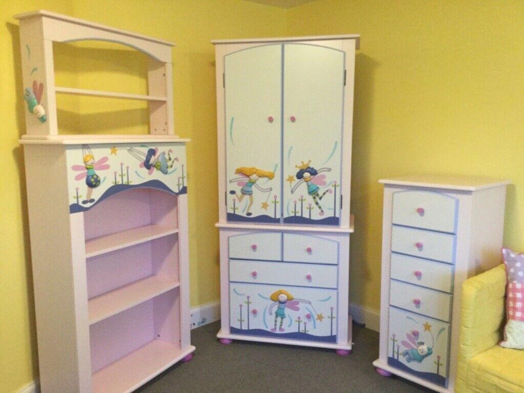 Complete set of Funky Fairies designer kids bedroom ...