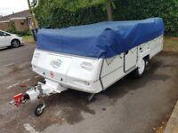 Folding Caravan Conway Cruiser with remote control caravan mover