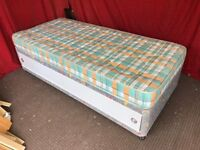 SINGLE DIVAN BED WITH UNDER STORAGE AND MATTRESS,CAN DELIVER