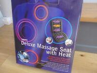 Heated back massage mat