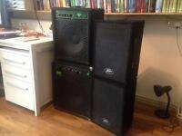 Trace Elliot Commando bass amp + Penvey PVi10 two way speakers
