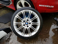 BMW E46 3 SERIES MV2 SINGLE ALLOY WITH TYRE (HAVING MASSIVE CLEAROUT ALL STOCK MUST GO) BREAKING