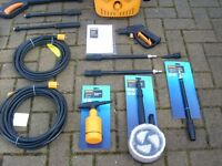 Halfords Pressure Washer Accessories 10m & 7m Hose Turbo Vario Lance Rotary & Car Brush Soap Bottle