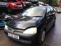 2002 Vauxhall Corsa 1.0 12v life 5dr black z 20c 90u BREAKING FOR SPARES