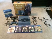 PlayStation 4 console, camera and games