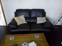 TWO SEATER LETHER SOFA CLEAN CONDITION