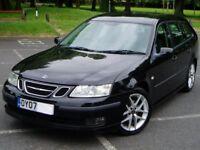 2007 Saab 9-3 Vector Sport Estate 1.8t. StaNav. 87000 Miles Mot May2018. Half Leather. Saab 93 Turbo