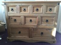 Wooden Chest of drawers-decorative storage. Cost £300.00 new