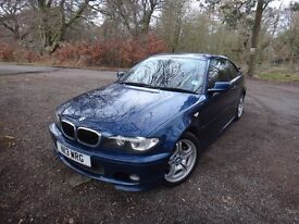 BMW 320CD 3 Series Coupe M-Sport 6 Speed Manual Diesel Blue 2005