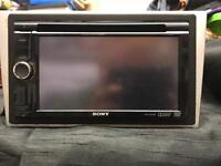Sony double din DVD player with USB and bluetooth