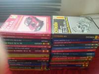 Haynes car manual books for Ford,vauxhall,rover,renault,saab,citreon