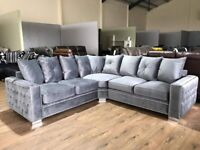 Stamford Plush Corner Sofa - FREE DELIVERY AND SET UP IN ANY ROOM OF YOUR CHOICE TO 90% OF THE UK
