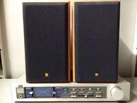 Amplifier JVC A-K22 Made in Japan 2X40 watts 8 ohm + pair of speakers KEF CRESTA 1/ 70 watts 8 ohm
