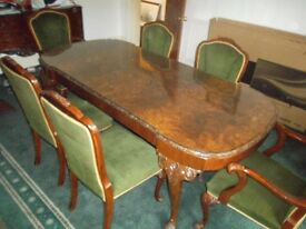 Hardwood Dining Table + 6 Chairs.