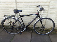mens 21in probike hybrid bike new lights, d-lock serviced ready to ride FREE DELIVERY