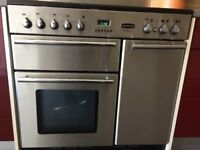 Rangmaster Toledo 90cm Electric - brushed steel, good condition