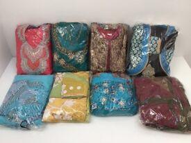 Bundle of 12 INDIAN DRESS, OUTFIT, SAREE, CHURIDAAR - BARGAIN