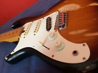 Left Handed guitar, Japanese 1982 Aria Pro 2 RS Bobcat, modified great tone