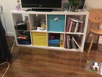 Ikea bookshelves and ikea coffee table