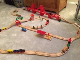 Wooden train set - 80 pieces