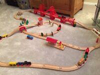 Wooden train set - 80 pieces