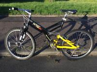 "GIANT WARP FULL SUSPENSION MOUNTAIN BIKE 26"" WHEELS EXCELLENT CONDITION"