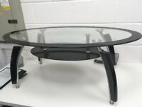 Black Glass Coffee Table - Nearly New