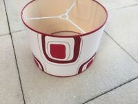Lampshade Red and Ivory