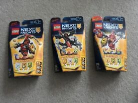 Lego NEXO KNIGHTS - 3 different sets NEW/ SEALED