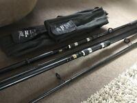 Pair of Dragon Carp Dynamo Fishing Rod 12ft - 2 1/2lbs - Carp Fishing Rods in Bags Ready to Fish