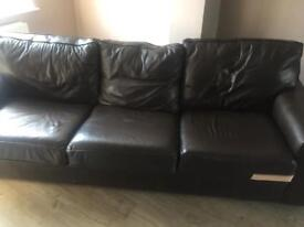 4 seat leather sofa
