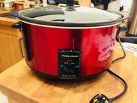 Morphy Richards Accents 461000 Sear and Stew Slow Cooker 6.5 L - Red