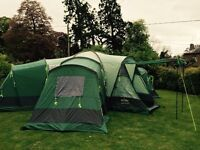 8 man tent and camping equipment