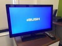 """24"""" BUSH LED TV 12V DVD FREEVIEW FULL HD USB PORT GREAT WORKING ORDER WITH REMOTE CAN DELIVER"""