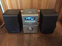 SHARP MD-M1 MICRO SYSTEM MINI DISC PLAYER CD RADIO VINTAGE RETRO HIFI STEREO